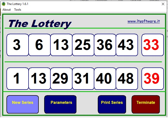 Click to view The_lottery 1.6.0 screenshot